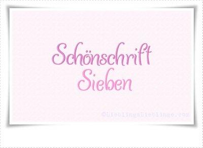 Schriftart Schönschrift Nr7