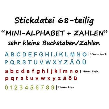 Schriftart Mini Alphabet