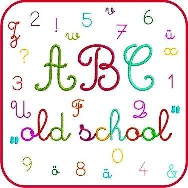 Schriftart Old-School